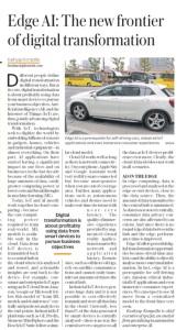Edge AI Kashyap Kompella Mint Newspaper 29June2018 Article